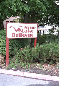 Nine Lake Bellevue Entrance Way